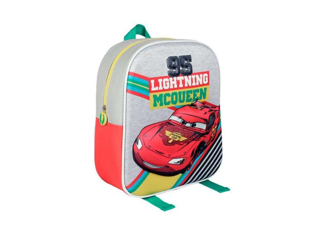 Disney Σχολική Τσάντα Νηπιαγωγείου Δημοτικού Σακίδιο Πλάτης με φερμουάρ Cars, 21 σχολικά είδη   σχολικές τσάντες