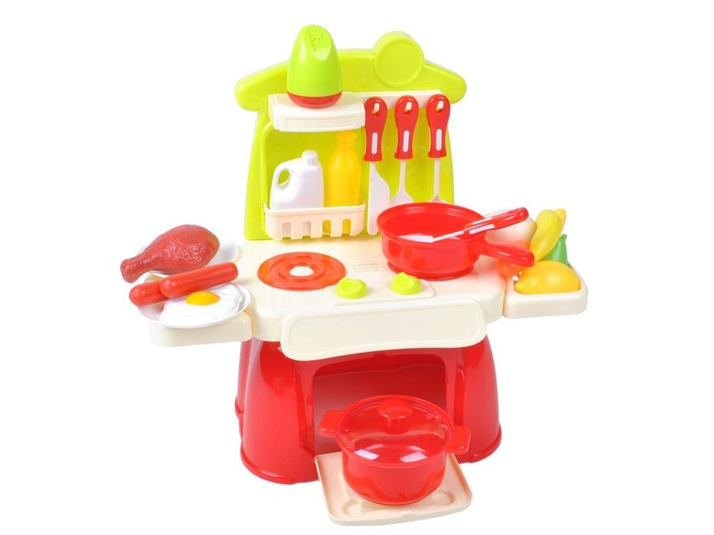 Παιχνίδι Παιδική Κουζίνα Μπαταρίας με Ήχο και Φως σε Κόκκινο χρώμα, 30x34x14cm,  παιχνίδια   άλλα παιχνίδια