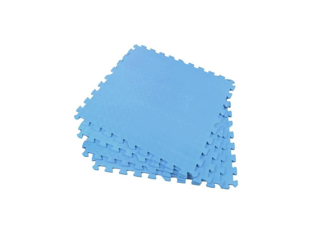 Αφρώδες Προστατευτικό για το Πάτωμα Παζλ 4 τεμαχίων σε Γαλάζιο χρώμα, 61x61cm, 2 μωρά και παιδιά   παιδική διακόσμηση