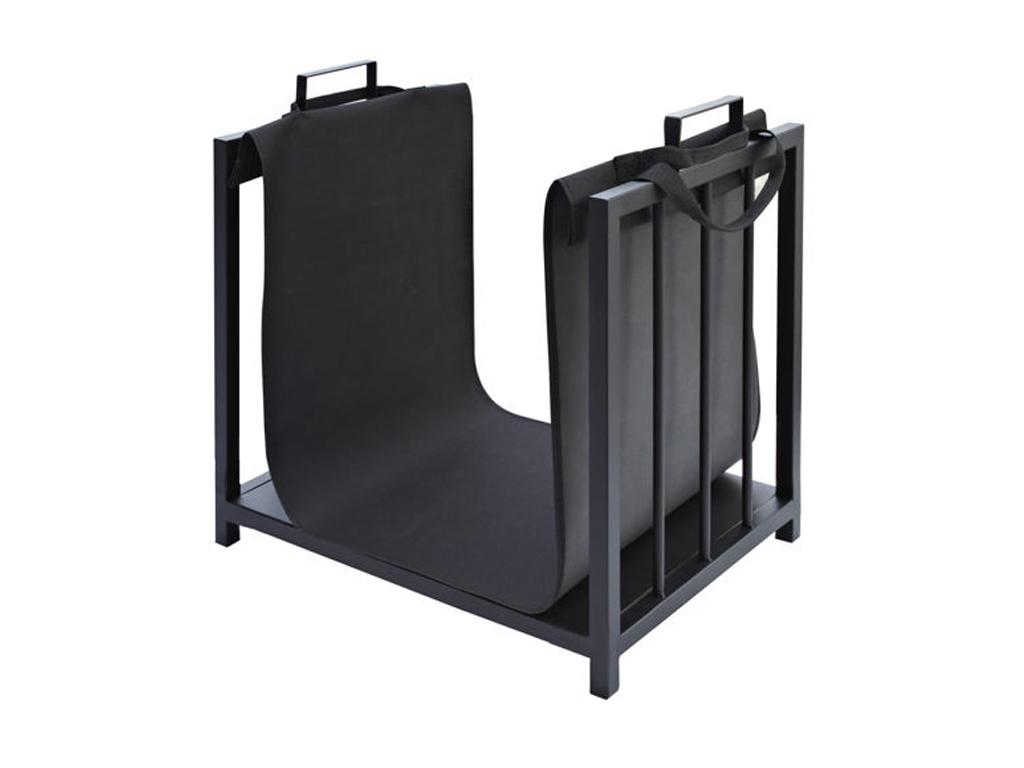 Ξυλιέρα Τζακιού, Μεταλλική Βάση Αποθήκευσης Ξύλων για το Τζάκι, διαστάσεων 50.5 x 37 x 50, με αποσπώμενο προστατευτικό ύφασμα, PK007 - Kaminer