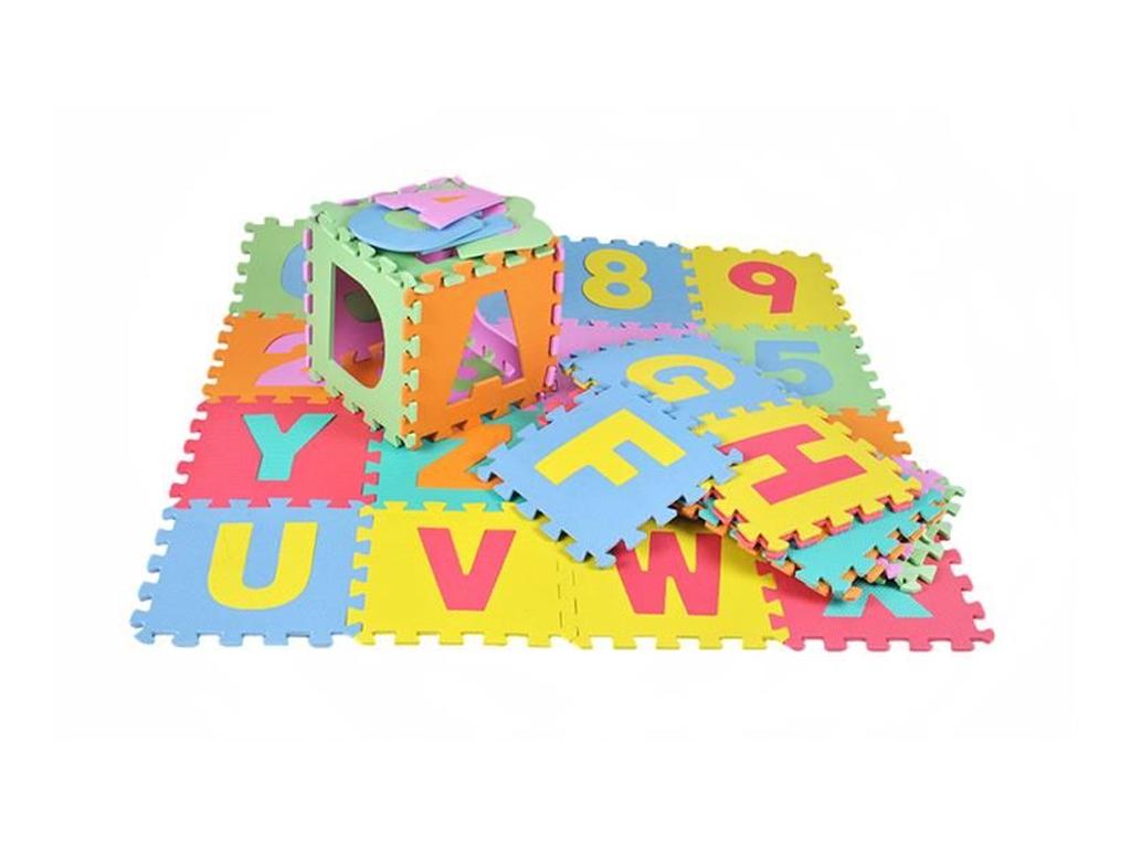Παιδικό Αφρώδες προστατευτικό πάτωμα Παζλ 36 τεμαχίων, διαστάσεων 30 x 58 x 17 εκατοστά, 4693 - Aria Trade
