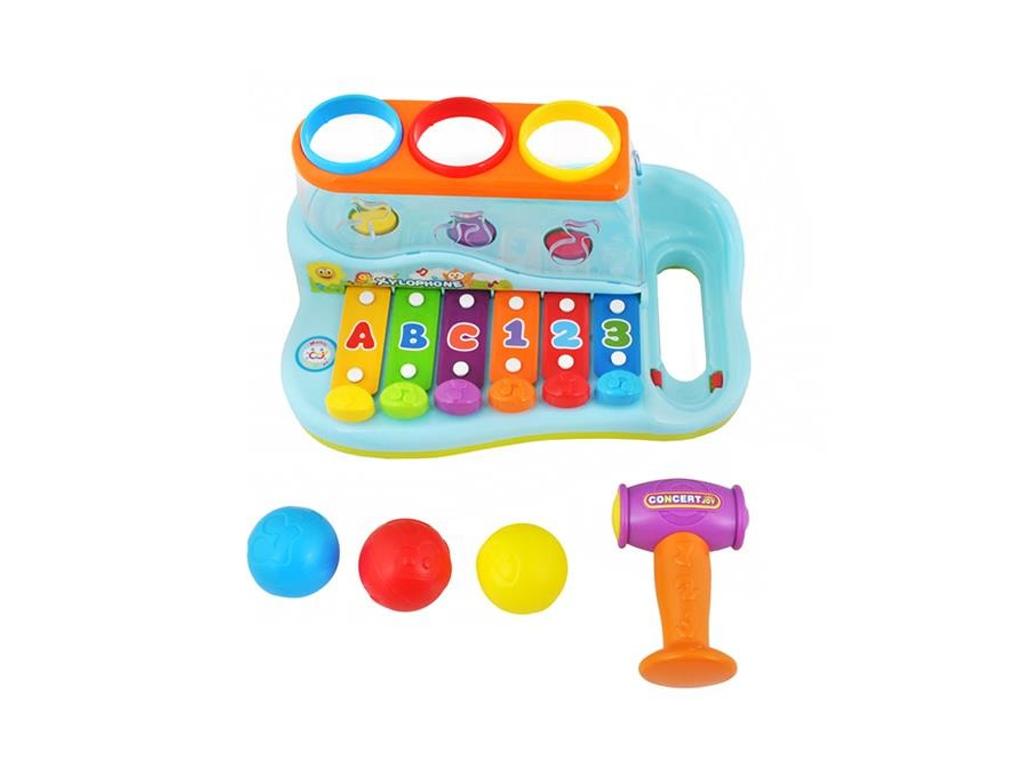 Παιδικό Ξυλόφωνο με μπάλες και σφυρί, διαστάσεων 27x18x14 εκατοστά, για μωρά από παιχνίδια   εκπαιδευτικά παιχνίδια