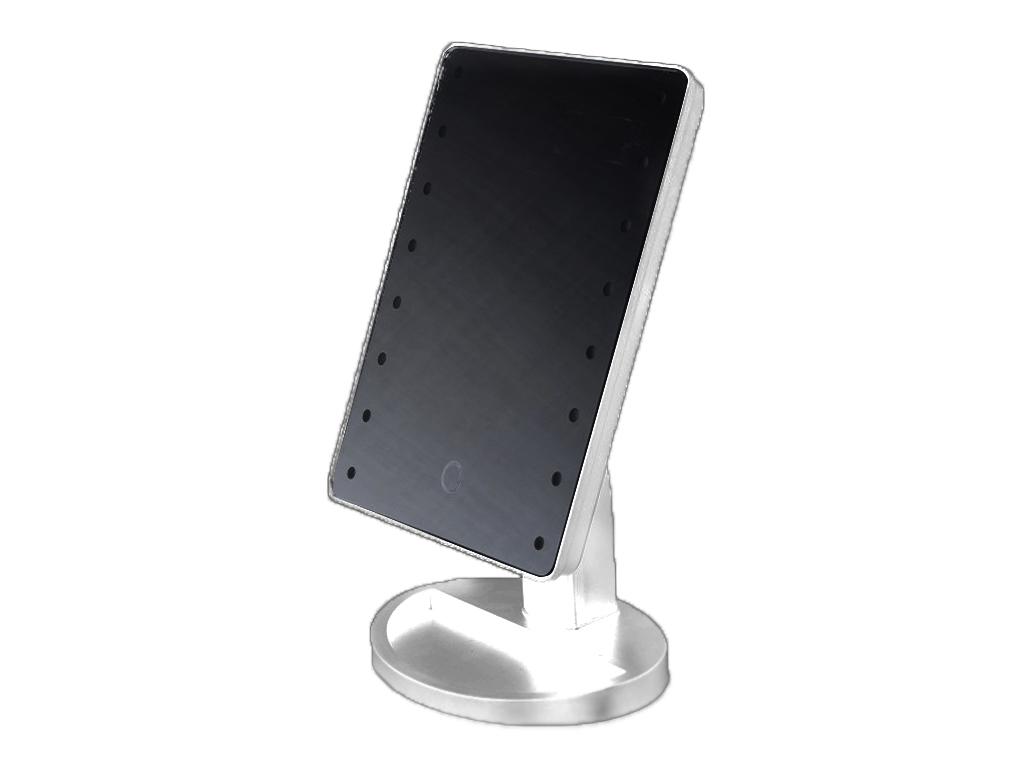 Καθρέφτης Μακιγιάζ Μπάνιου με 16 Led Φώτακια και περιστροφή 180 μοίρες, 529001360 Λευκό - Cb