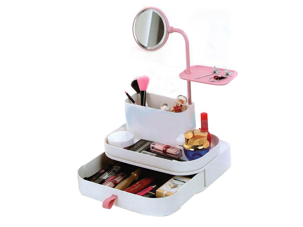 Καθρέφτης - Θήκη Αποθήκευσης Καλλυντικών - Cosmetic Organizer & Mirror - Cb