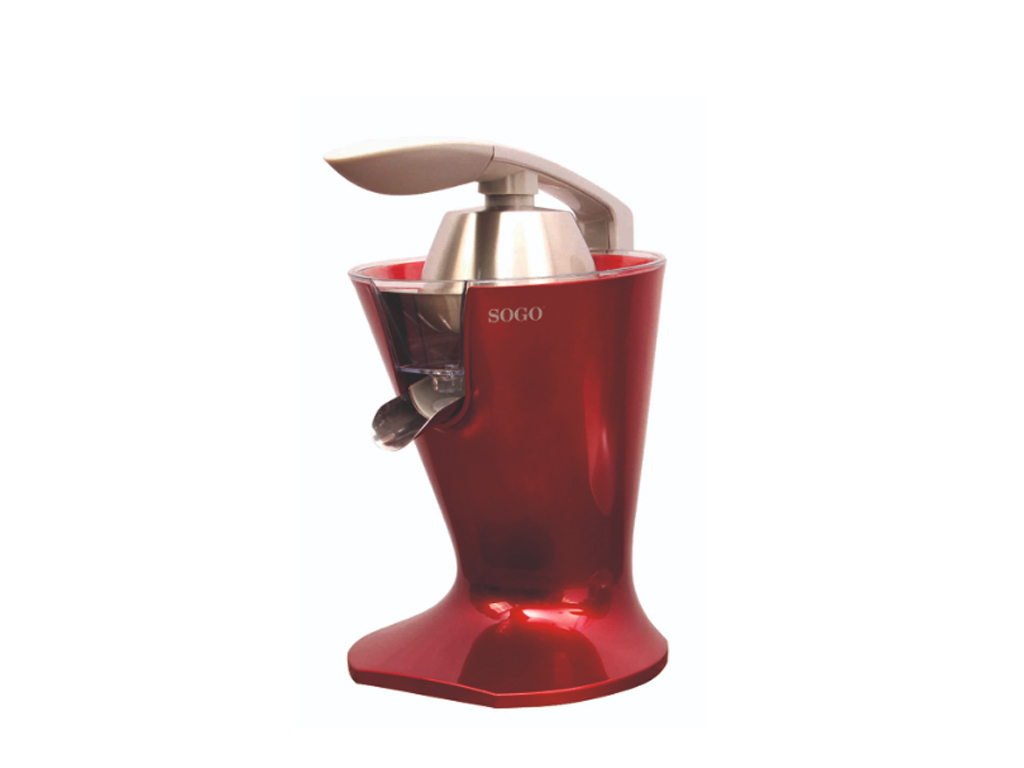 Ηλεκτρικός αποχυμωτής Πορτοκαλοστίφτης Λεμονοστίφτης, Χωρητικότητας 0,55l, 160W, σε κόκκινο χρώμα, Sogo SS-5295-R - SOGO