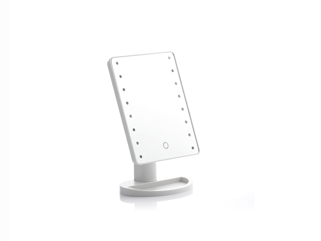 Επιτραπέζιος Καθρέφτης με LED Φωτισμό για μακιγιάζ με Περιστροφή 180º και Κουμπί αφής για ενεργοποίηση, 17x27x12cm, InnovaGoods V0100954 - InnovaGoods