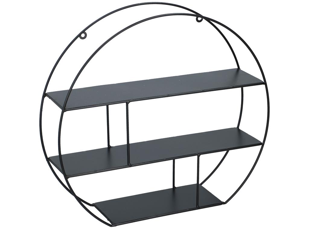 Μεταλλική Επιτοίχια Ραφιέρα σε στρογγυλό σχήμα με ραφάκια, διαστάσεων 39x35.5x10 έπιπλα   οργανωτές αντικειμένων