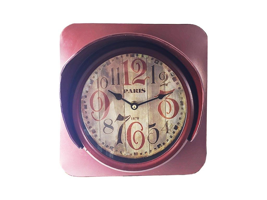 Retro Μεταλλικό Ρολόι Σε Σχήμα Οδικού Φαναριού 14A501S-2R - Cb