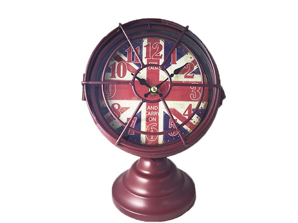 Ναυτικό Μεταλλικό Ρολόι σε σχήμα Φανού Πλοίου Με Φόντο Τη Βρετανική Σημαία, 14B6 διακόσμηση και φωτισμός   ρολόγια τοίχου  επιτραπέζια και επιδαπέδια ρολόγια