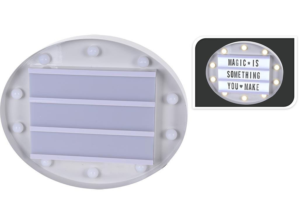 Φωτιζόμενος Πίνακας LED, για Μηνύματα Cinema, με 60 Σύμβολα, 30cm, AX5302620 Άσπ διακόσμηση και φωτισμός   διακοσμητικά τοίχου