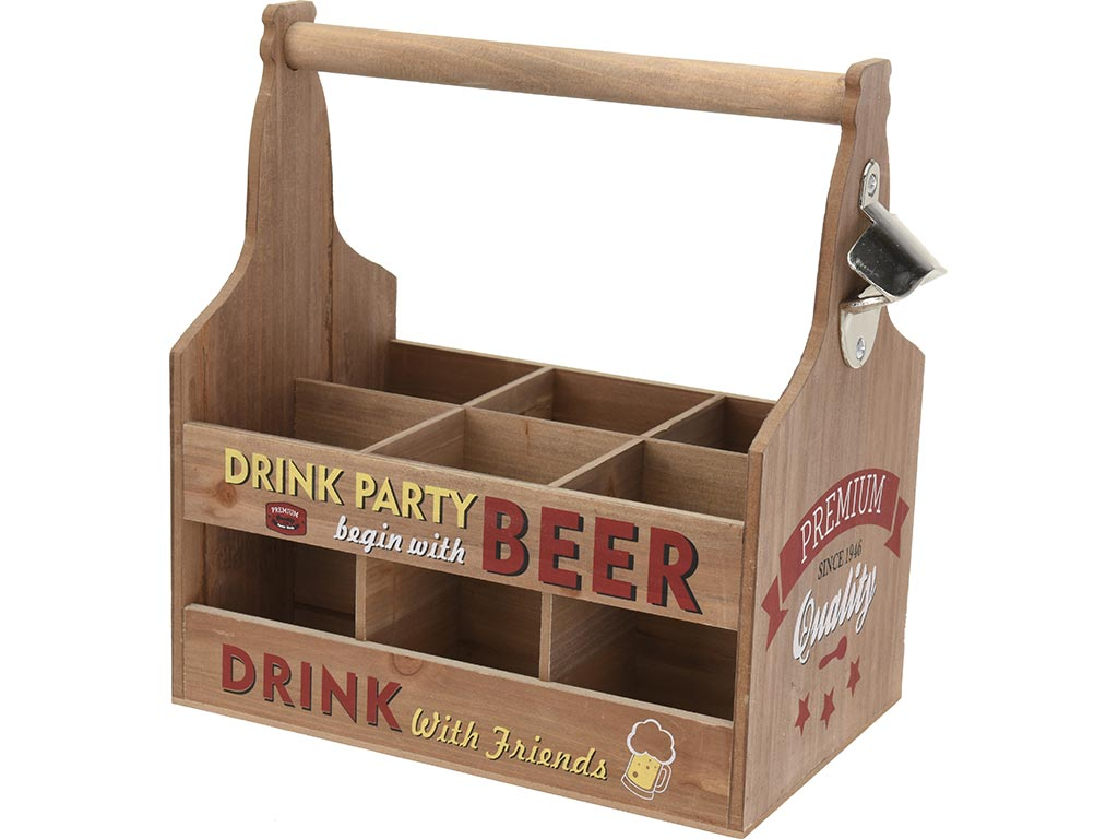 Ξύλινη Vintage Μπουκαλοθήκη Βάση Για Μπύρες, Αναψυκτικά και Ποτά, Με ενσωματωμέν κουζίνα   αξεσουάρ και έπιπλα αποθήκευσης κρασιών