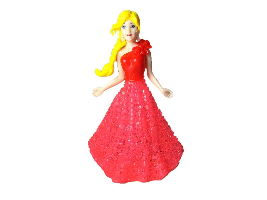 3b9da8609992 Διακοσμητικό Φωτιστικό LED Κοπέλα με Κόκκινο Φόρεμα