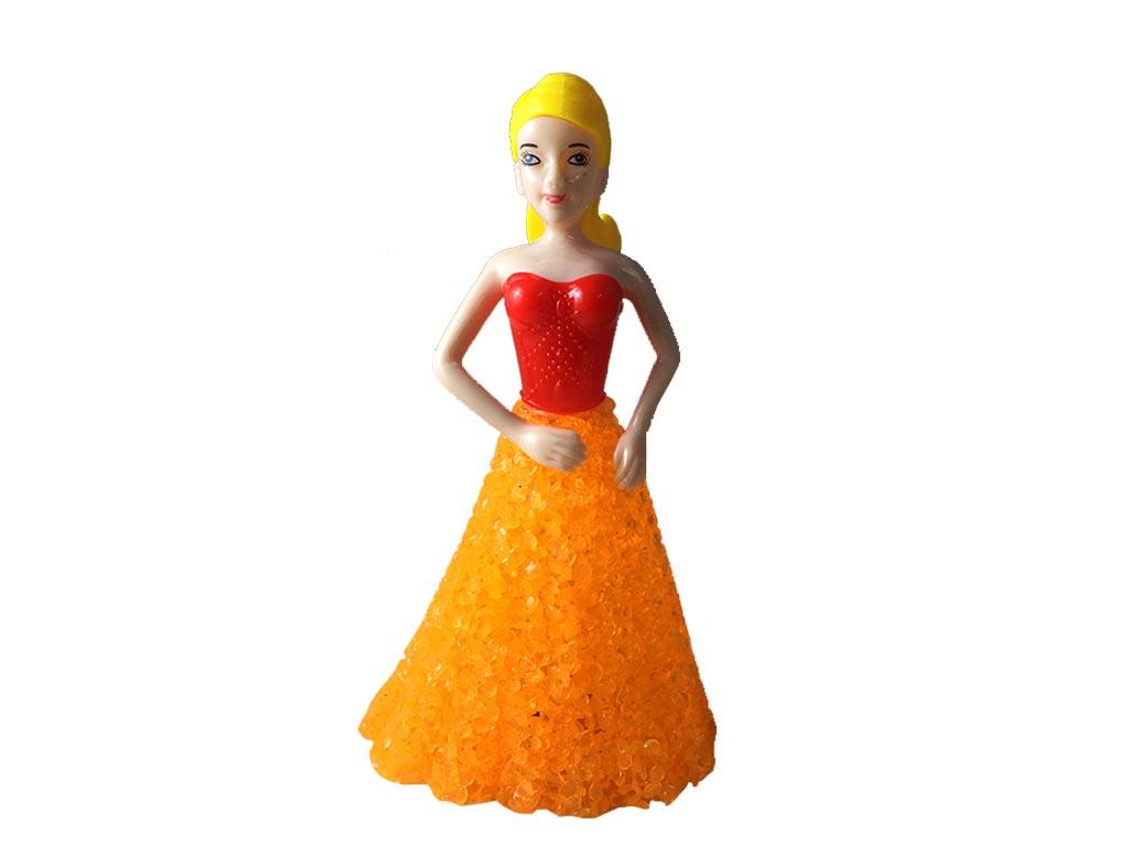 cf6bc06239c3 Hellas-tech Διακοσμητικό Φωτιστικό LED Κοπέλα με Πορτοκαλί Φόρεμα