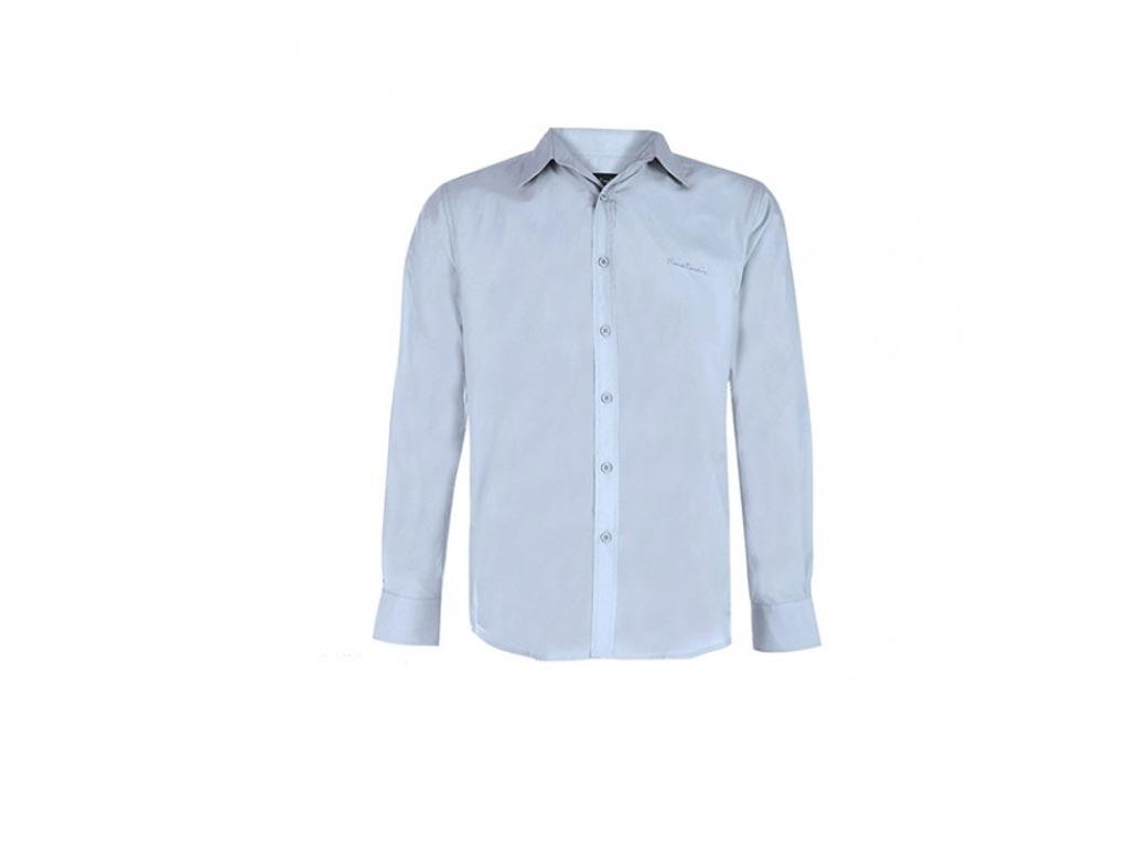 4c607dcc0dfa Pierre Cardin Ανδρικό Πουκάμισο Μακριμάνικο με Γιακά σε χρώμα Sky Blue με  κέντημα το λογότυπο