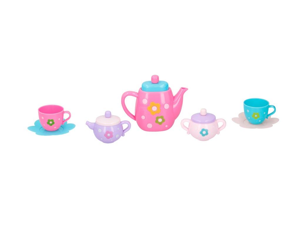 Παιδικό Σετ για τσάι με τσαγιέρα, φλυτζάνια και αξεσουάρ 14 τεμαχίων σε 2 χρώματ παιχνίδια   παίζοντας τον μεγαλύτερο