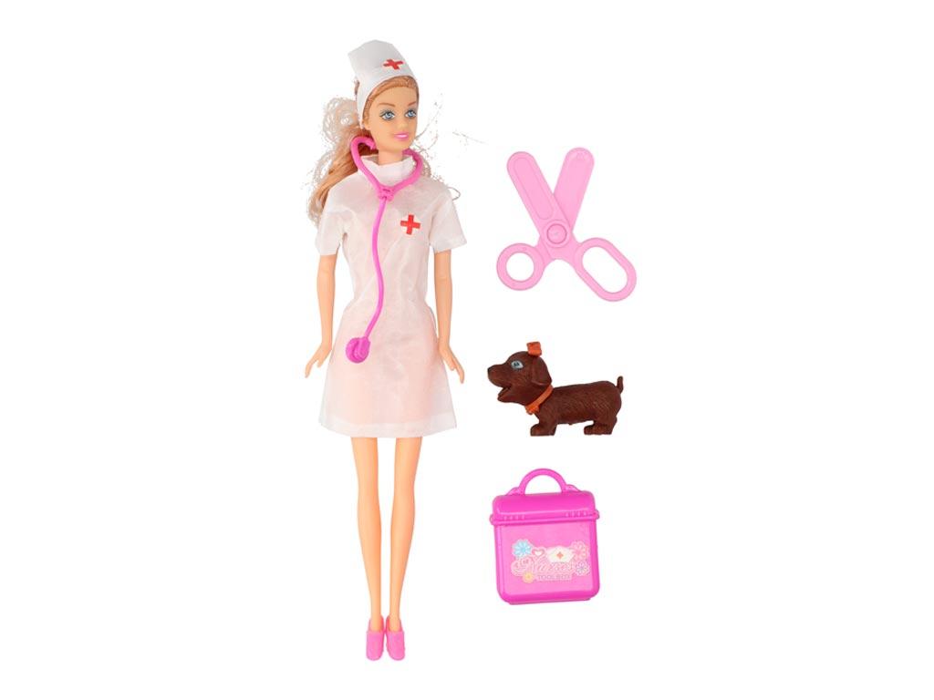 Σετ Παιδική κούκλα νοσοκόμα με αξεσουάρ σε 3 σχέδια, Eddy Toys 85387 Φούξια - Ed παιχνίδια   κούκλες και λούτρινα