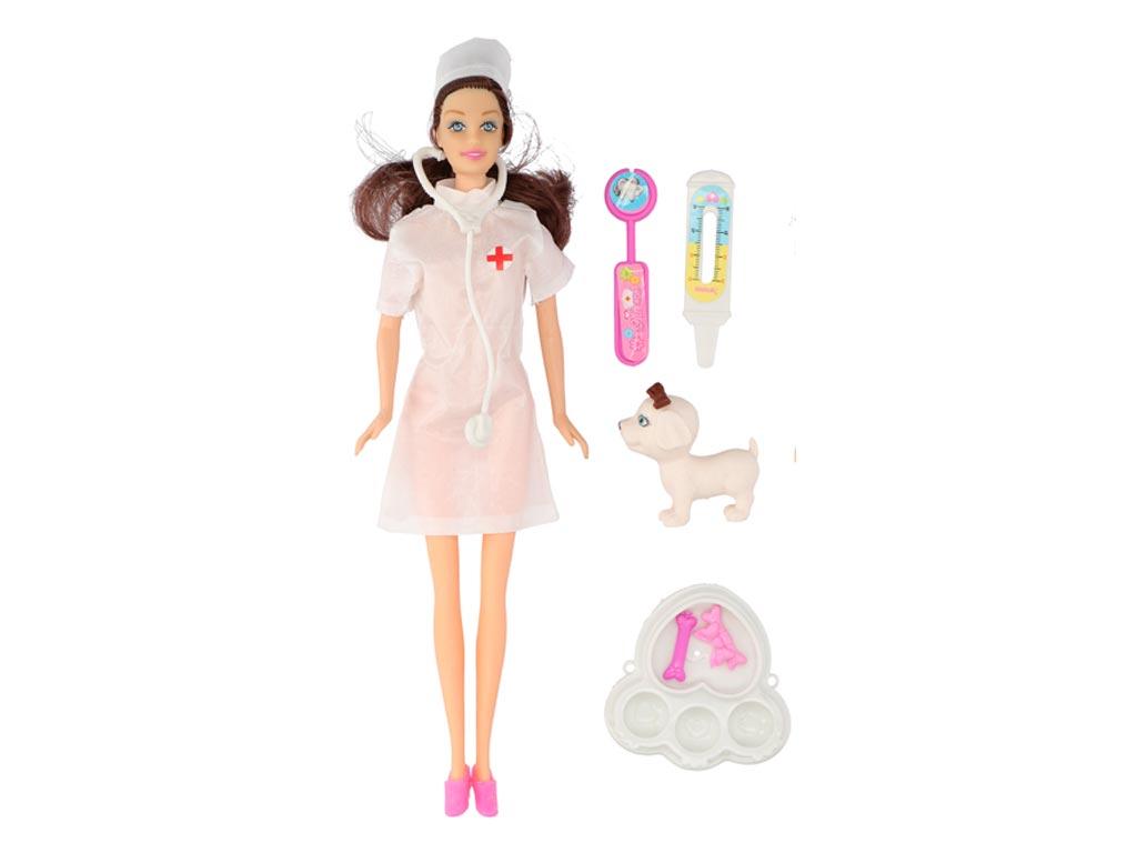Σετ Παιδική κούκλα νοσοκόμα με αξεσουάρ σε 3 σχέδια, Eddy Toys 85387 Λευκό - Edd παιχνίδια   κούκλες και λούτρινα