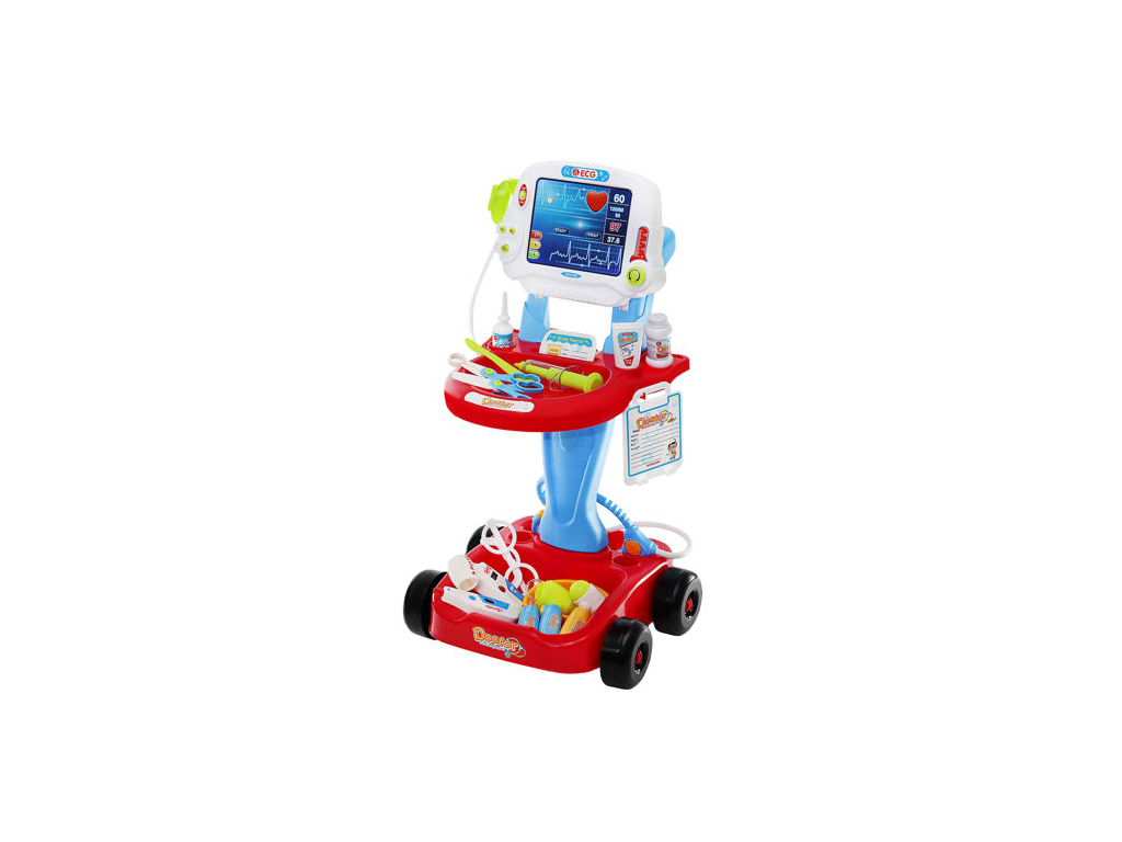 Παιδικό Τρόλεϊ Γιατρού, Ιατρικός Πάγκος, Παιχνίδι μίμησης, ηλικίας 3+, με ήχους  παιχνίδια   εκπαιδευτικά παιχνίδια
