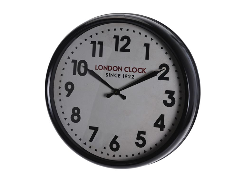 Αναλογικό Ρολόι Τοίχου Μεταλλικό Χρώματος Μαύρου Διαμέτρου 61cm, Y50000020 - Cb