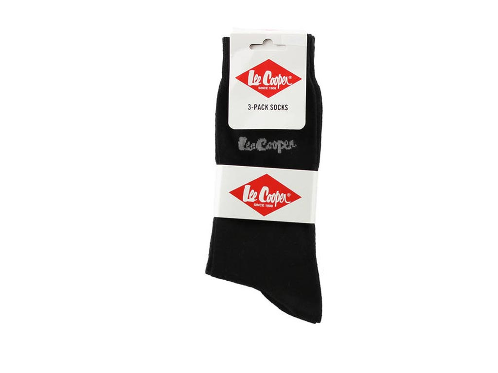 Lee Cooper Ανδρικές Κάλτσες σετ 3 ζευγαριών σε Μαύρο χρώμα, 86919 - Lee Cooper είδη ένδυσης και υπόδησης   κάλτσες