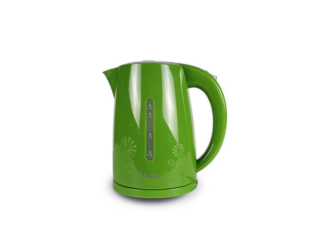 Ασύρματος Ηλεκτρικός Βραστήρας Νερού 1.7L 2200W σε Πράσινο Λευκό χρώμα, Homa HK- ηλεκτρικές οικιακές συσκευές   βραστήρες