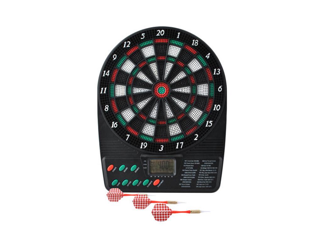 Mini Ηλεκτρονικός Στόχος με Βελάκια και Κονσόλα Υπολογισμού Πόντων, με βάση στήριξης και 18 ενσωματωμένα παιχνίδια, 6715 - Cb