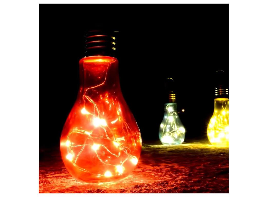 Κρεμαστός LED Λαμπτήρας με Αντάπτορα - Led Big Christmas Lamp - Blue, White, Rose, Warm - Cb