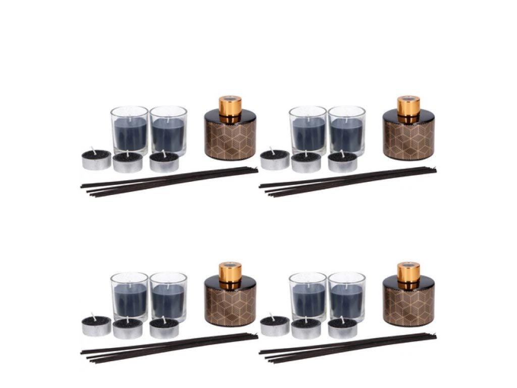 Σετ με Έλαιο Αρωματικό χώρου, 2 Κεριά σε Θήκη, 3 Κεριά Ρεσώ και Sticks, Arti Cas διακόσμηση και φωτισμός   αρωματικά χώρου