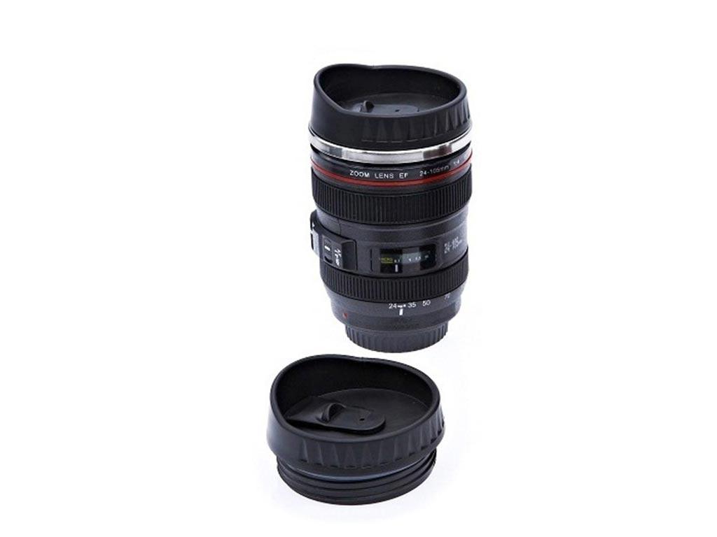 Κούπα σε σχήμα Φακού Φωτογραφικής Μηχανής 28-135mm με Ανοξείδωτο εσωτερικό και κ σερβίρισμα   κούπες και ποτήρια