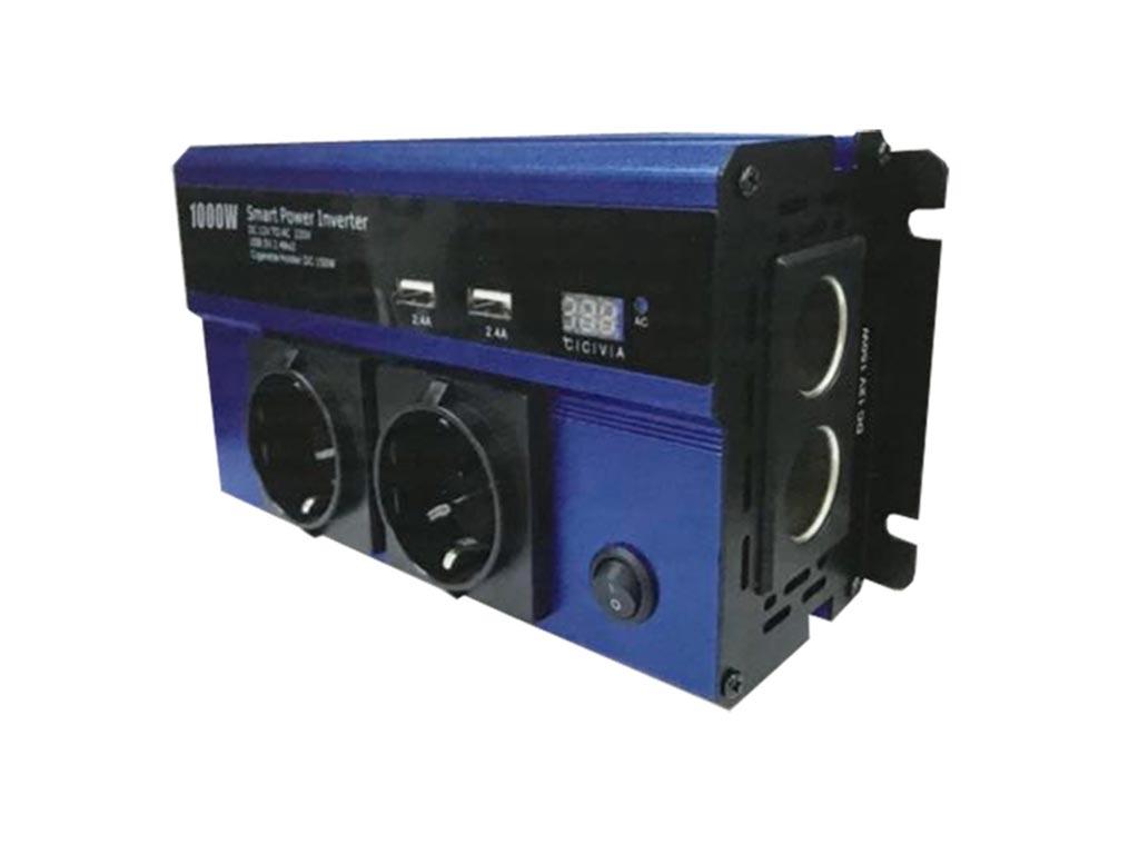 Power Inverter 1000W Power Inverter Τροποποιημένου Ημιτόνου 12V to AC 220V, QY-7 gps και είδη αυτοκινήτου   φορτιστές usb για το αυτοκίνητο