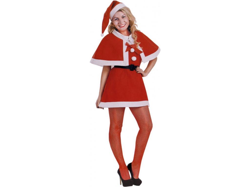 Γυναικεία Χριστουγεννιάτικη Στολή, Φόρεμα Άγιου Βασίλη, Με Κάπα, Κόκκινη Με Λευκ χριστουγεννιάτικα είδη   στολές   σκούφοι   στέκες   μπότες