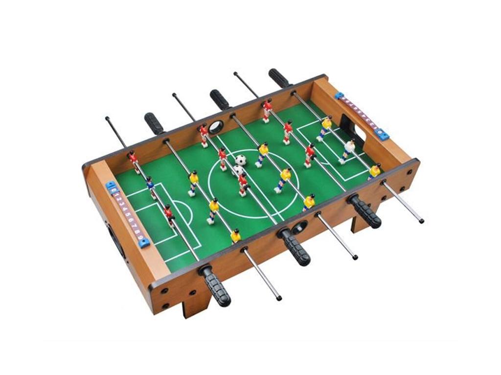 Ξύλινο Επιτραπέζιο Παιδικό Ποδοσφαιράκι με πόδια,3 λαβές, 18 παίκτες, διαστάσεων 69x23x37cm - Cb