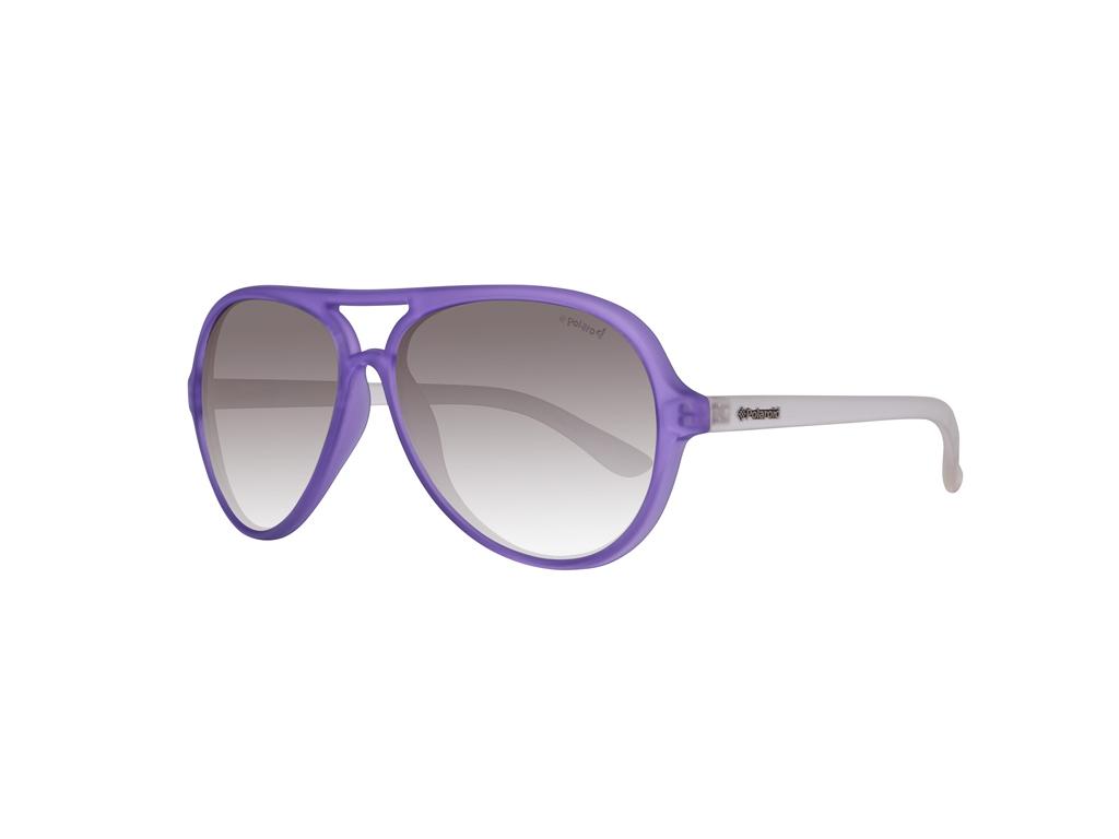 Polaroid Γυναικεία Γυαλιά Ηλίου με Διάφανο και Μωβ Πλαστικό Σκελετό, Μαύρο Φακό  γυαλιά ηλίου   γυναικεία γυαλιά ηλίου