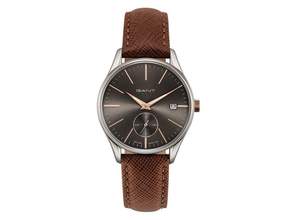 Gant Unisex Ρολόι χειρός με Γκρι Σκούρο καντράν, Ασημί Κάσα, Μπεζ ενδείξεις και  ρολόγια χειρός   unisex ρολόγια χειρός