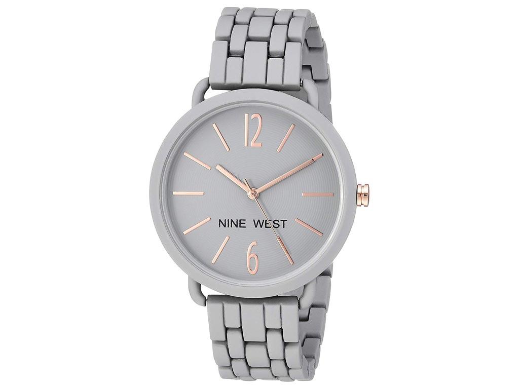 Hellas-tech Nine West Γυναικείο Ρολόι χειρός με Γκρι καντράν 8fafe727f38