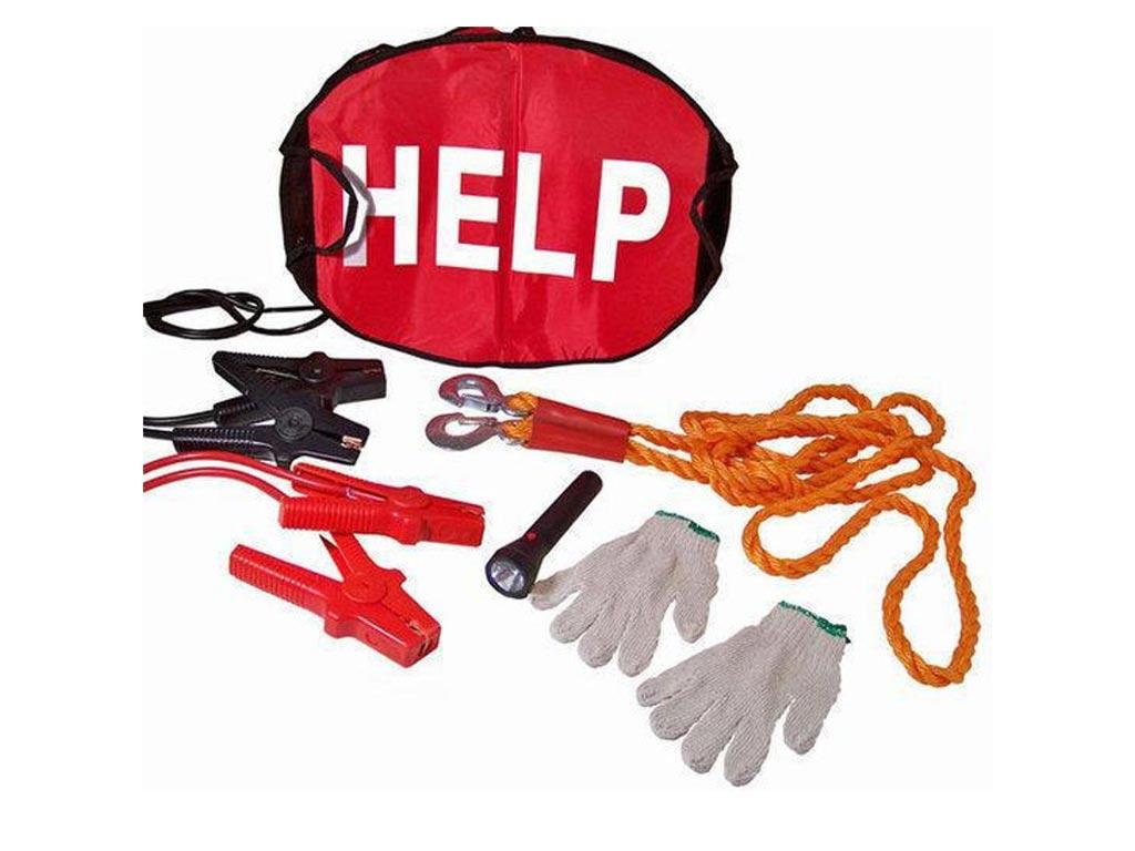 Κιτ ασφαλείας για το αυτοκίνητο 5 τεμαχίων με φακό, γάντια, σχοινί ρυμούλκυσης,  αξεσουάρ αυτοκινήτου   έκτακτη ανάγκη