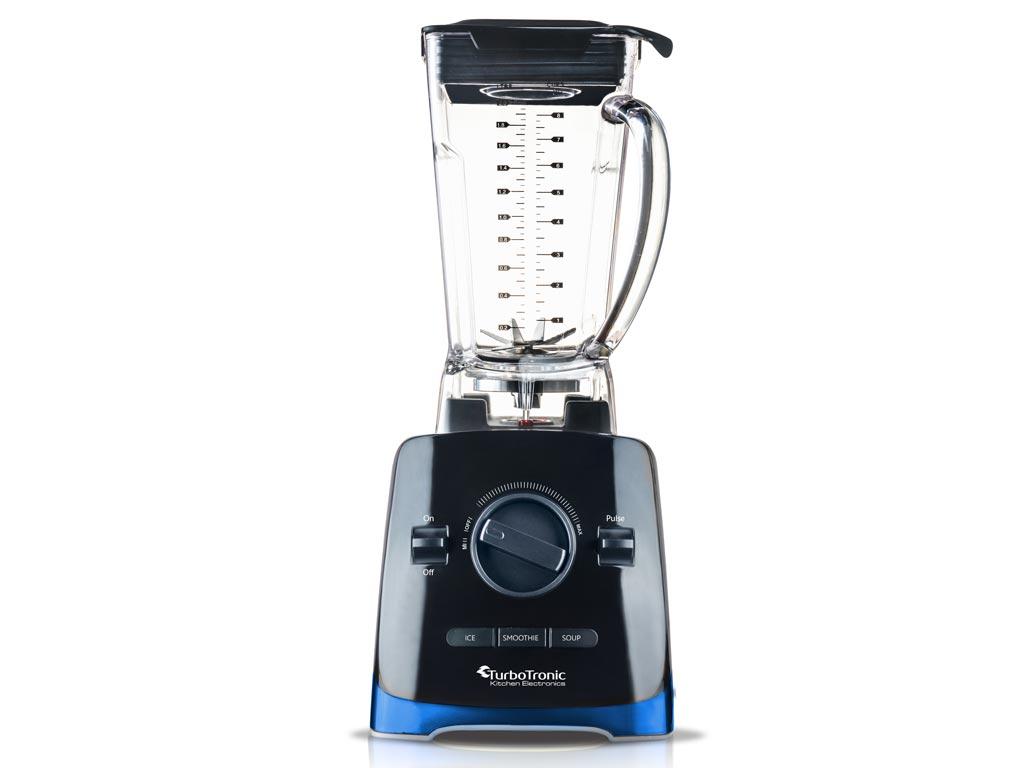 Επαγγελματικό Μπλέντερ Έξυπνος Πολυκόφτης max 1500W με Πλαστικό Δοχείο 2L για Παγωμένα Ροφήματα, Smoothies, Σούπες και άλλα, Turbotronic Power Blender Chop Master TT-PB500 Μπλε Μαύρο - TurboTronic