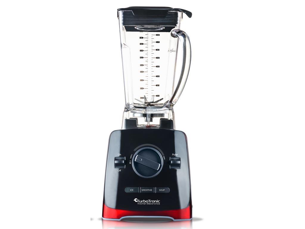 Επαγγελματικό Μπλέντερ Έξυπνος Πολυκόφτης max 1500W με Πλαστικό Δοχείο 2L για Παγωμένα Ροφήματα, Smoothies, Σούπες και άλλα, Turbotronic Power Blender Chop Master TT-PB500 Κόκκινο Μαύρο - TurboTronic
