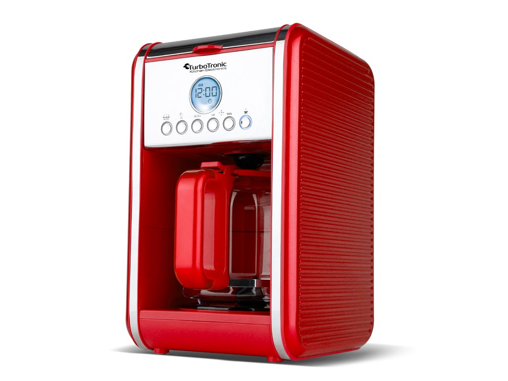 Καφετιέρα Φίλτρου Espresso Προγραμματιζόμενη 900W χωρητικότητας 1.8L για 12 Φλυτζάνια καφέ με οθόνη LCD σε 4 χρώματα, ZPRESSO TurboTronic TT-CM12 Κόκκινο - TurboTronic