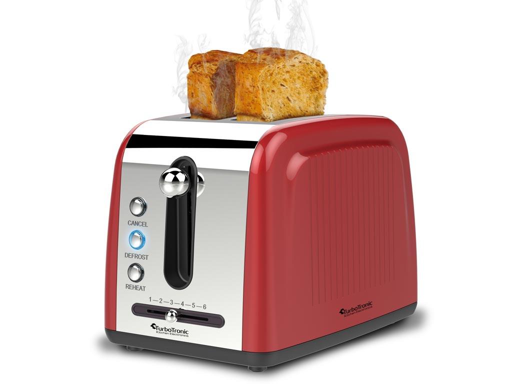 Τοστιέρα Σαντουιτσιέρα Φρυγανιέρα 850W 2 θέσεων σε 3 χρώματα, TurboTronic Breakfast Line TT-BL6 Κόκκινο - TurboTronic