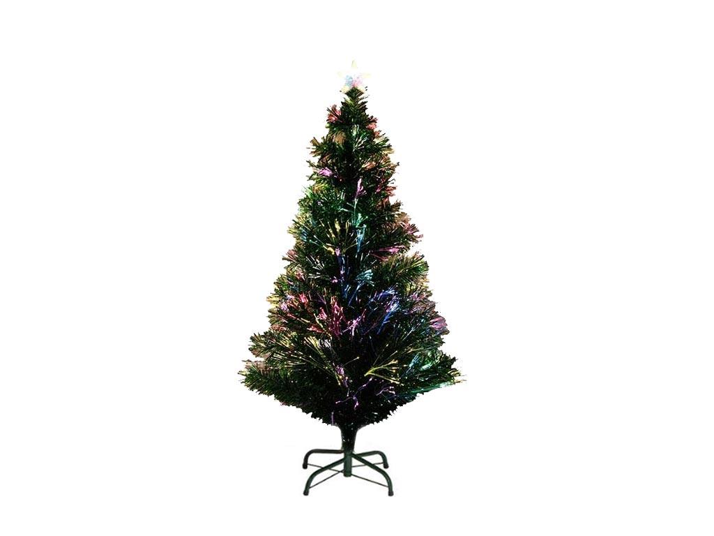 Τεχνητό Χριστουγεννιάτικο Δέντρο τύπου Έλατο με Οπτικές Ίνες ύψους 120cm με μετα δέντρα   με οπτικές ίνες