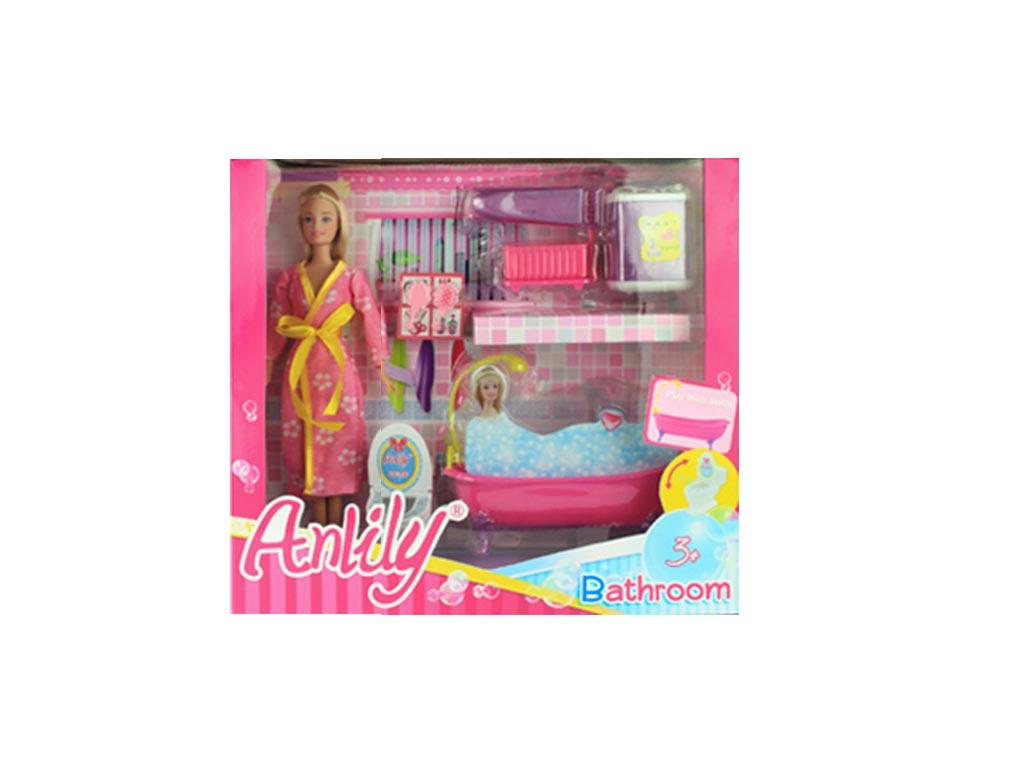 Κούκλα με το Μπάνιο της σε 2 Χρωματισμούς Ξανθιά - Cb παιχνίδια   κούκλες και λούτρινα