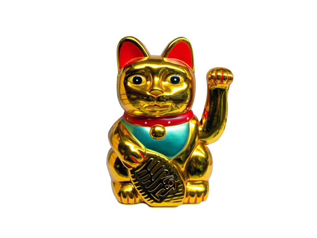 Διακοσμητική Τυχερή Χρυσή Γάτα Καλωσορίσματος 20cm - Cb διακόσμηση και φωτισμός   διακόσμηση τραπεζίου και ανθοδοχεία