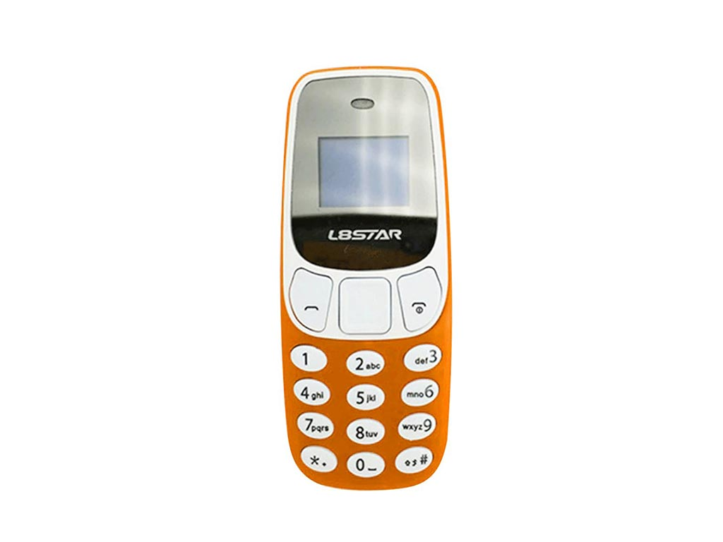 Mini Κινητό Τηλέφωνο Με Οθόνη 0.66',Bluetooth BT3.0, MP3/MP4 music play, Νano SIM card, Σε 4 Χρώματα, L8STAR BM10 Πορτοκαλί - Cb