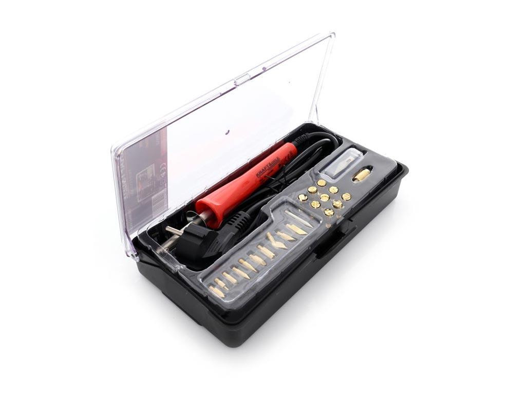 Πυρογράφος με 22 Διαφορετικές Μύτες, Ισχύος 30 Watt, 230V / 50Hz, Kraft&Dele KD1 εργαλεία για μαστορέματα   ηλεκτρικά εργαλεία