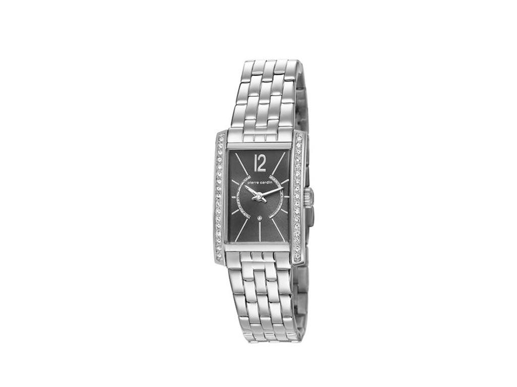 Pierre Cardin Γυναικείο Ρολόι χειρός με Μαύρο καντράν με διαμαντάκια 65794063cae