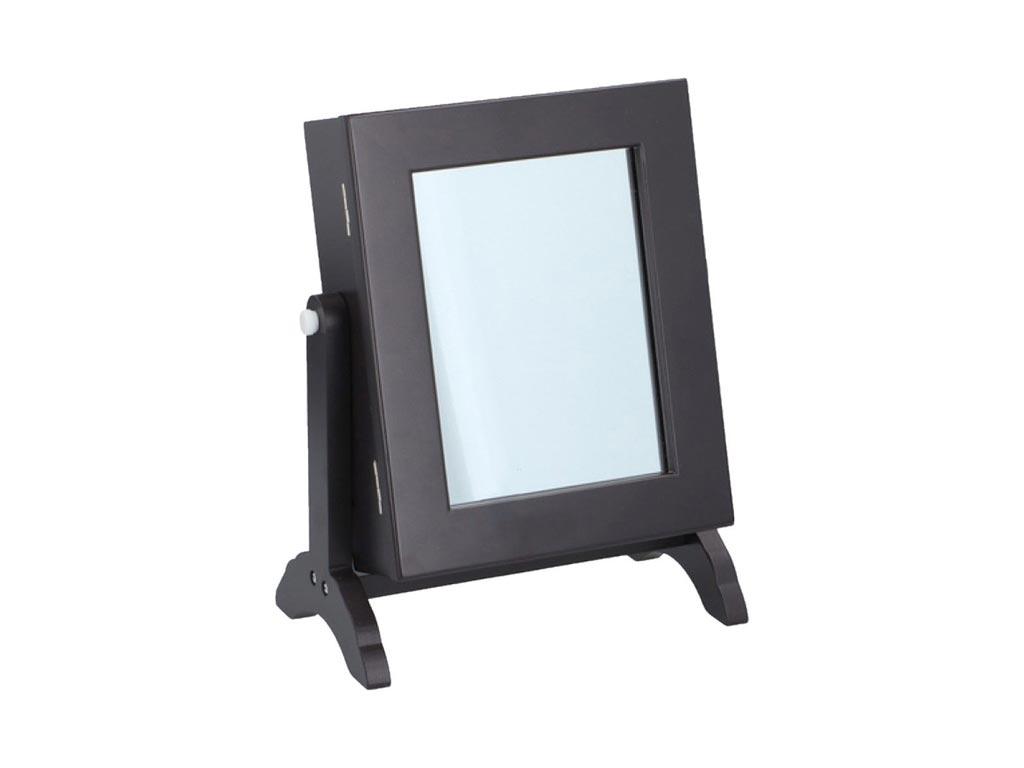 Touch of Beauty Επιτραπέζια Μπιζουτιέρα Κοσμηματοθήκη με Καθρέφτη σε Σκούρο Καφέ γυναικεία αξεσουάρ και κοσμήματα   θήκες κοσμημάτων