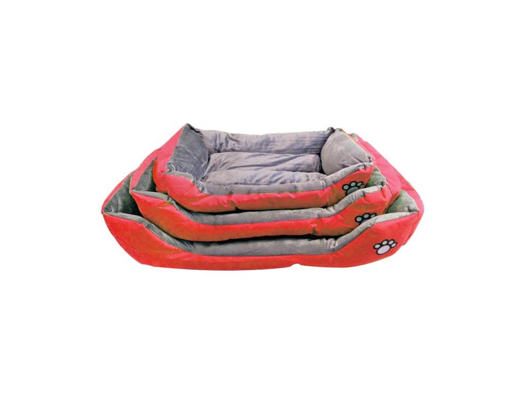 Σετ Μαλακά Κρεβάτια για Σκύλους και Γάτες 3 Τεμαχίων, Μονόχρωμα Κόκκινο - Cb