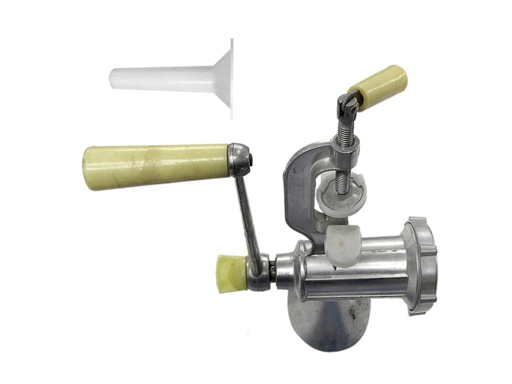 Χειροκίνητη Μηχανή κιμά και εξάρτημα για γέμισμα λουκάνικων, διαστάσεων 24x22x18 ηλεκτρικές οικιακές συσκευές   κρεατομηχανές