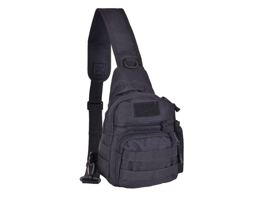 Ανδρικό Σακίδιο πλάτης ώμου χιαστί Bodybag, 18x9x26cm σε 2 Χρωματισμούς με θήκη  αξεσούαρ   τσάντες και πορτοφόλια